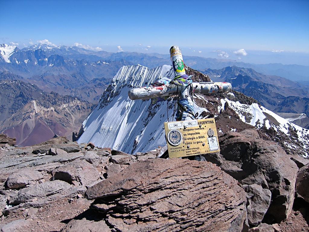 Sommet de l'Aconcagua à 6 962 m d'altitude