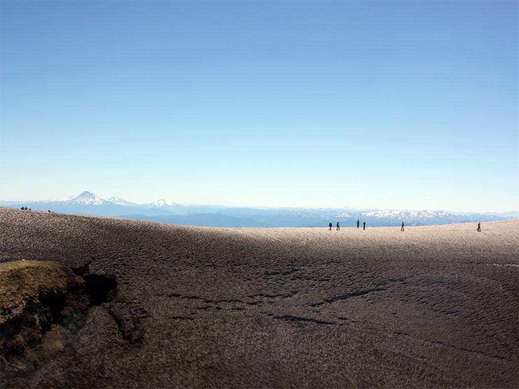Cratère du volcan Villarrica Chili