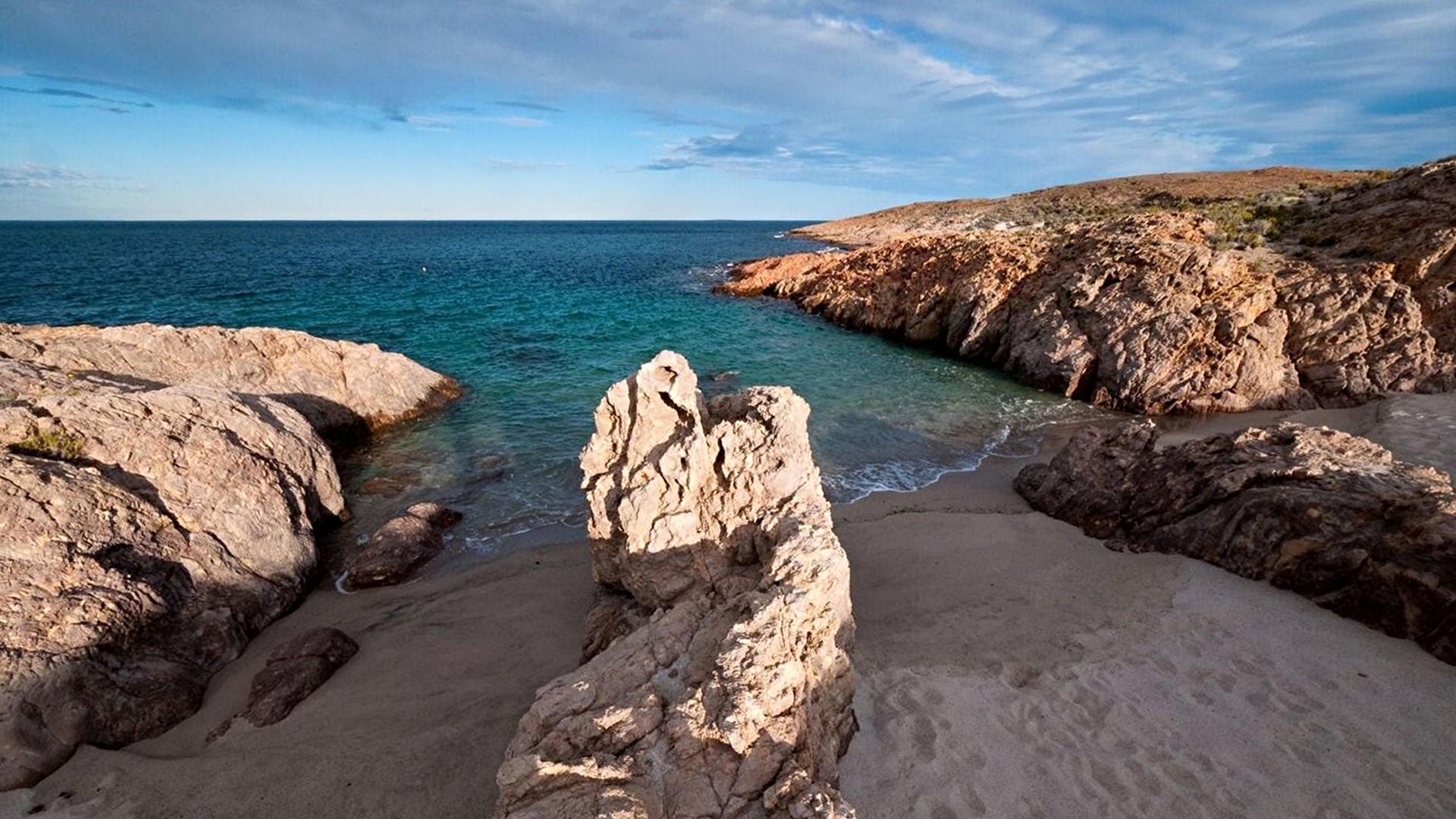 Baie de Bahia Bustamante en Patagonie argentine