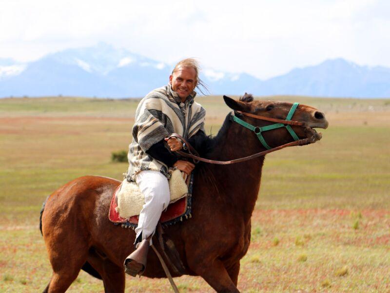 Boris à cheval en Patagonie