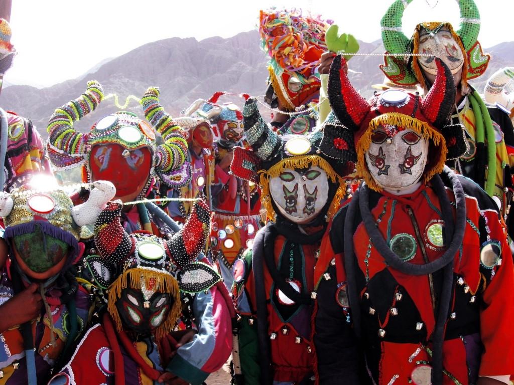 Représentation du diable au carnaval de Salta et de Jujuy