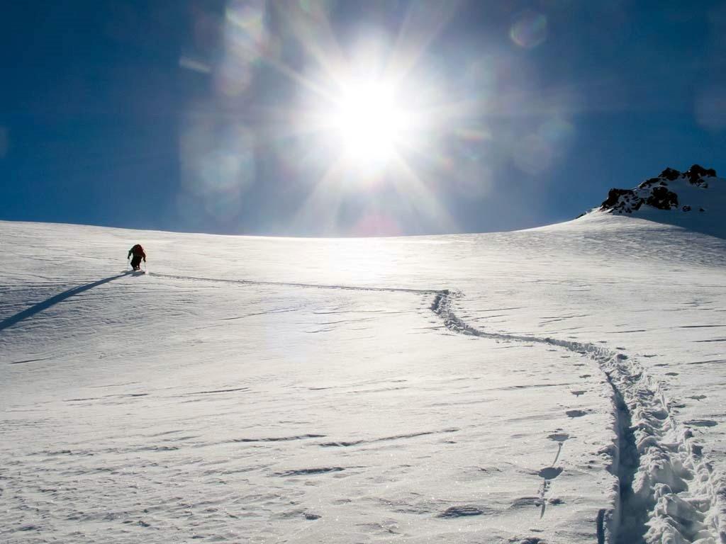 Skier en Patagonie argentine à Cerro Catedral