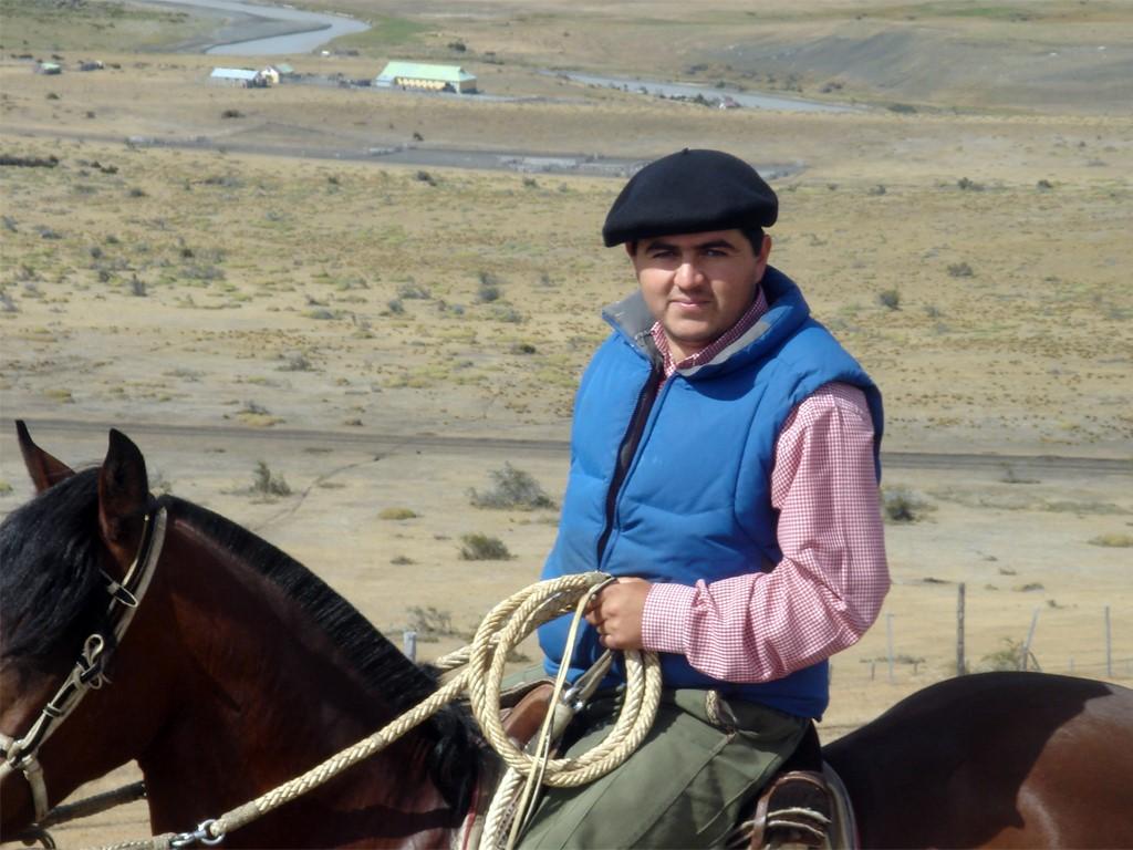 Nuestro gaucho de Puerto Natales en Patagonia chilena