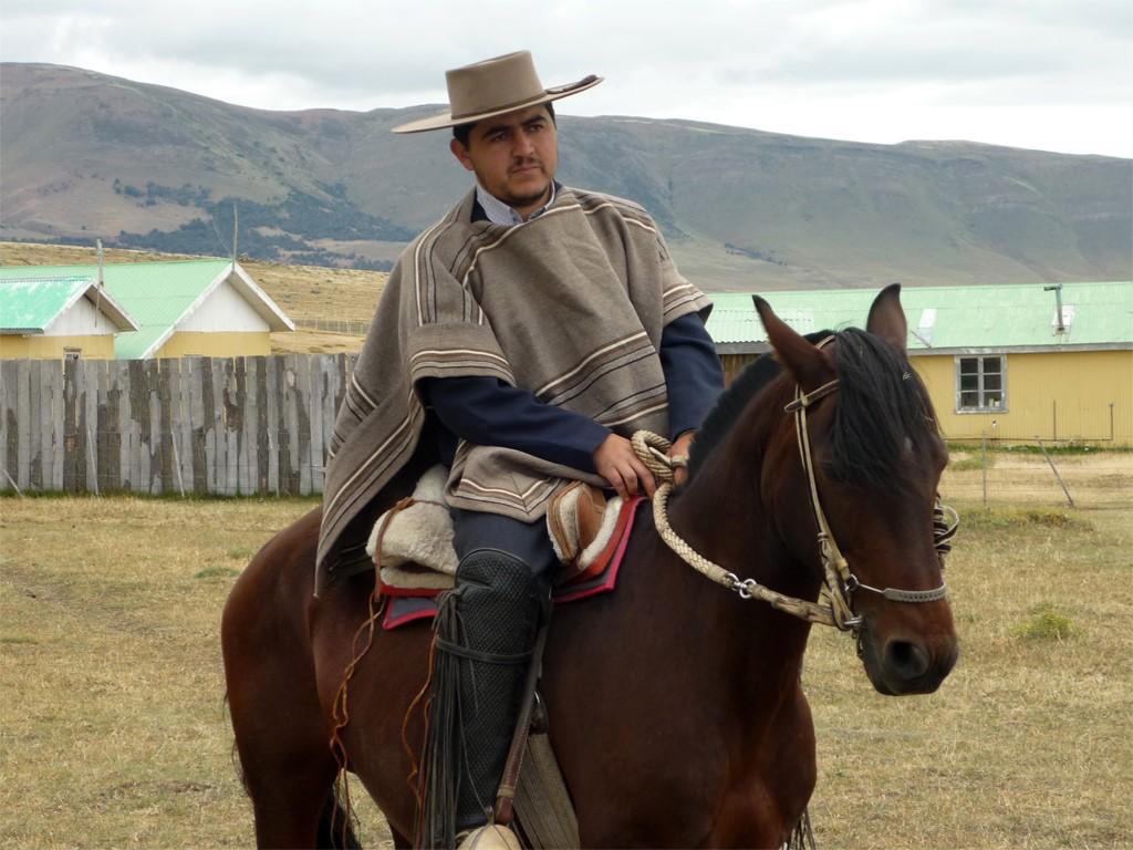Cristian sur son cheval