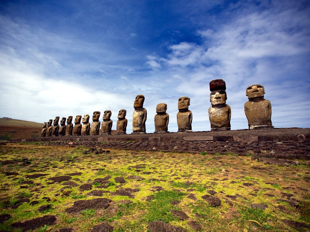 Les Moaï de l'Ile de Pâques