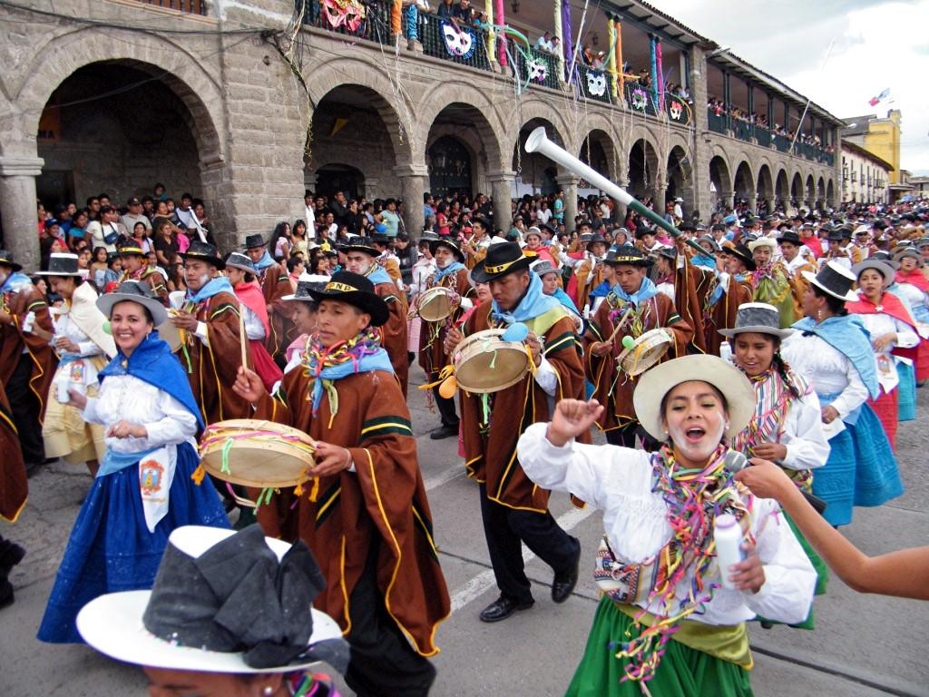 Cérémonie et défilés pendant le carnaval du Nord ouest en Argentine