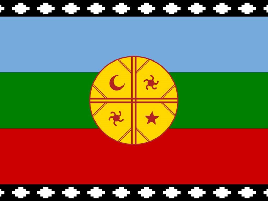 Drapeau de la Communauté Mapuche