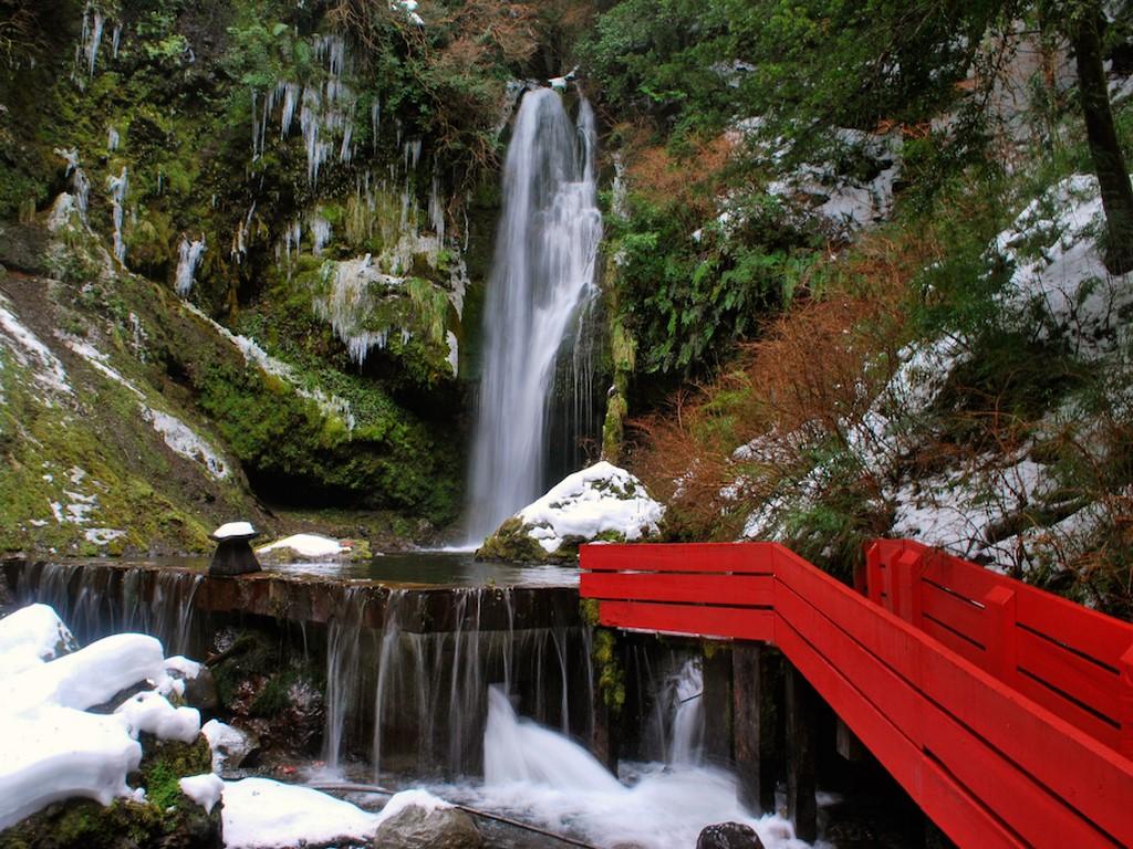 Les thermes du volcan Villarrica au Chili