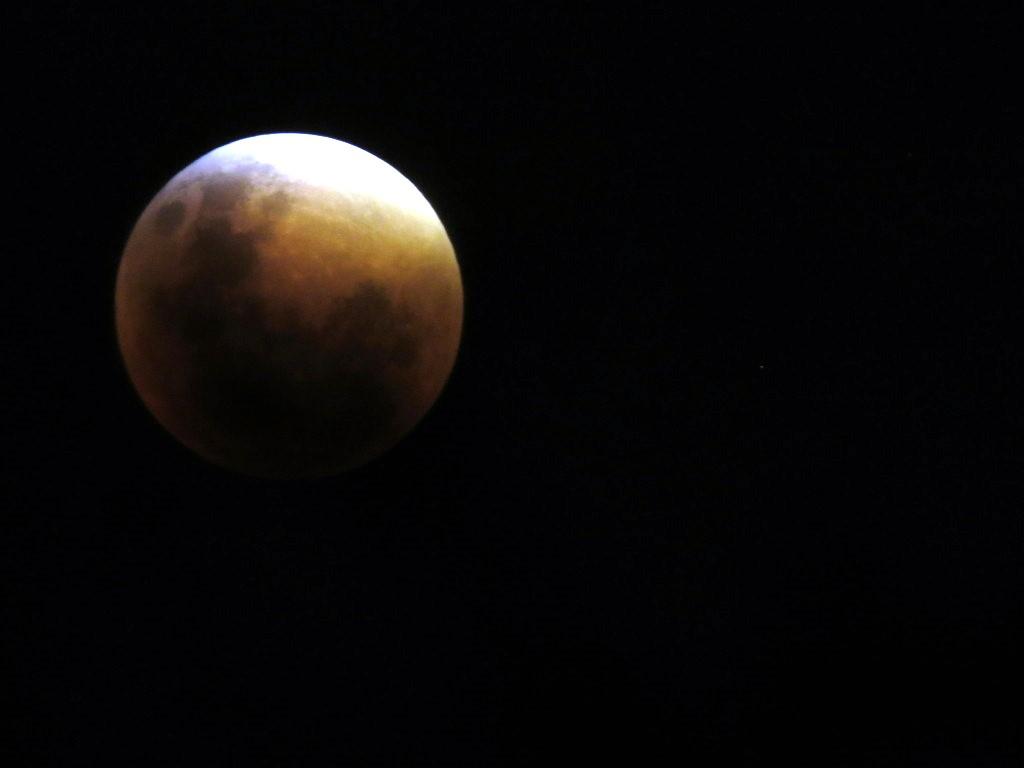 Eclipse de lune observée à Cordoba en Argentine