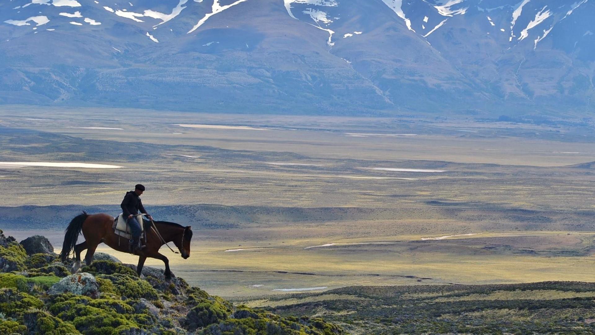 El gaucho del Sur de la Patagonia argentina