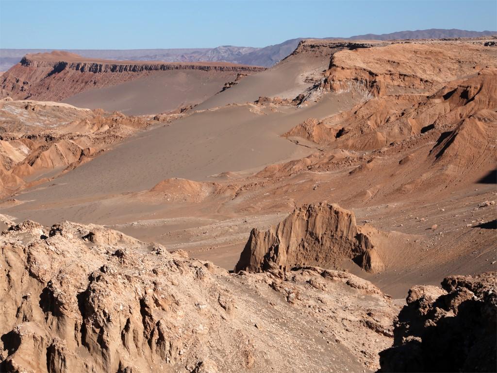 Formations géologiques à Atacama Chili