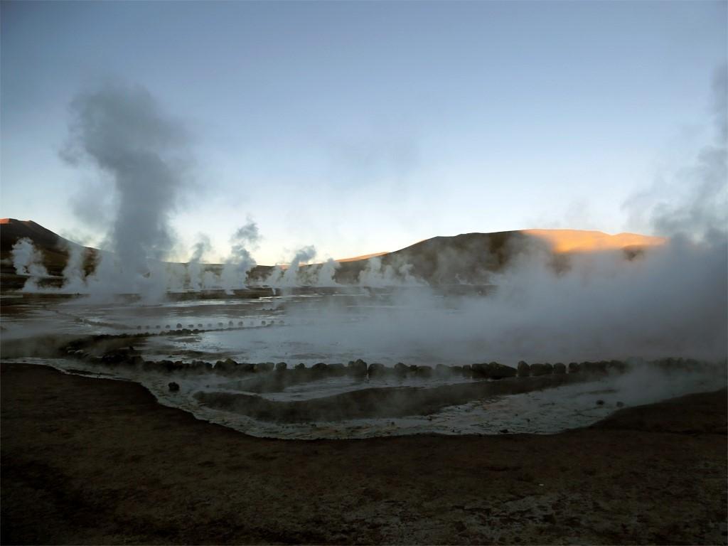 Impressionnants Geysers dans le Nord du Chili