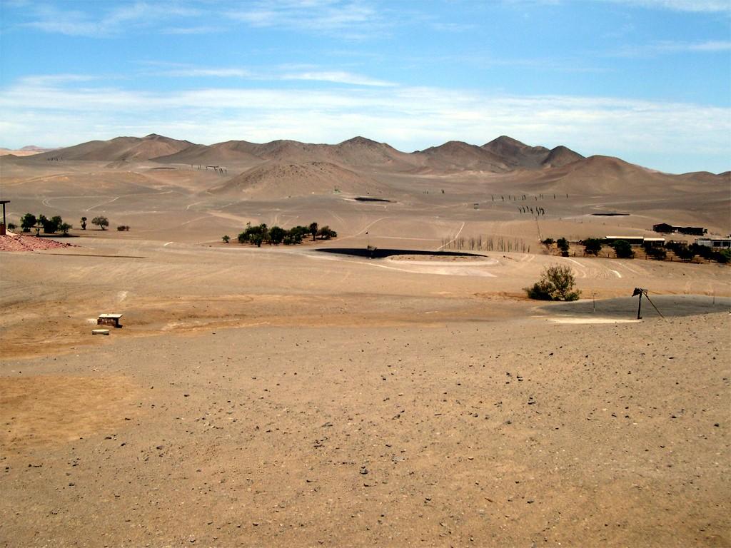 Práctica de golf en el desierto, Arica, Chile