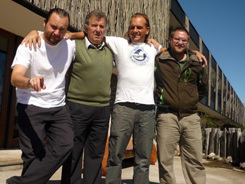 Nous sommes d'excellents amis avec Juan, Harald et Michael