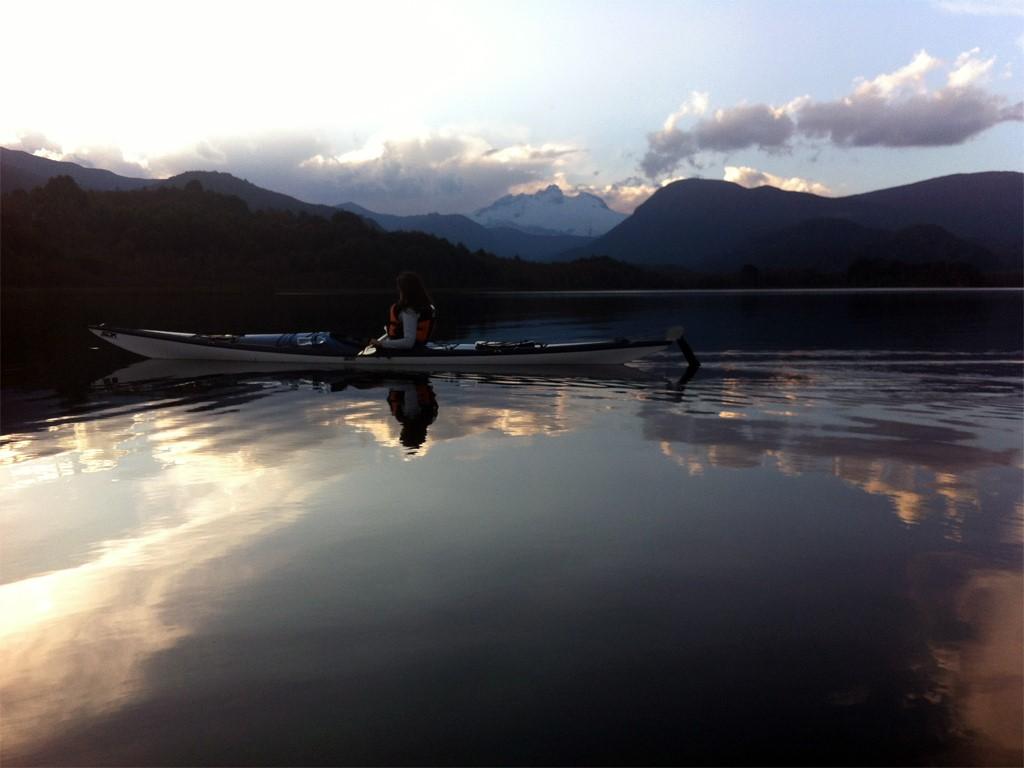 Retour en kayak sur le Lago Mascardi