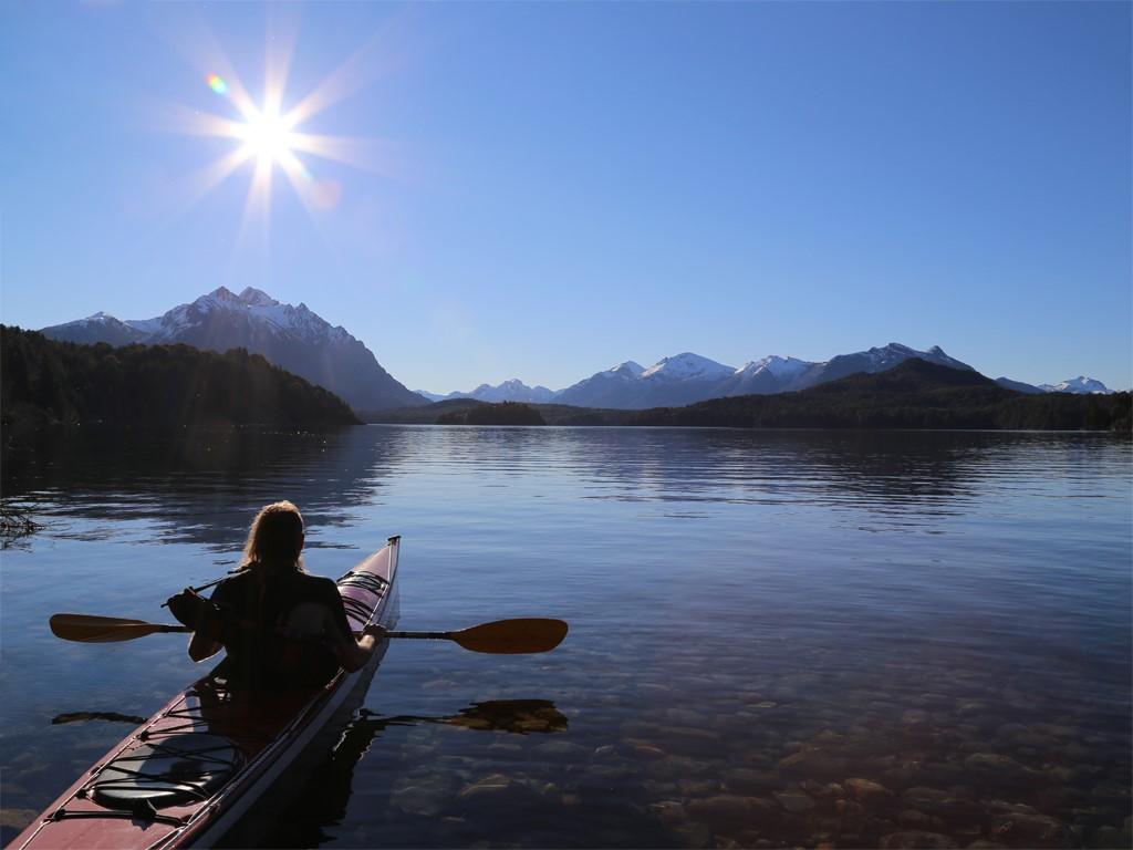 Le lac Mascardi en kayak