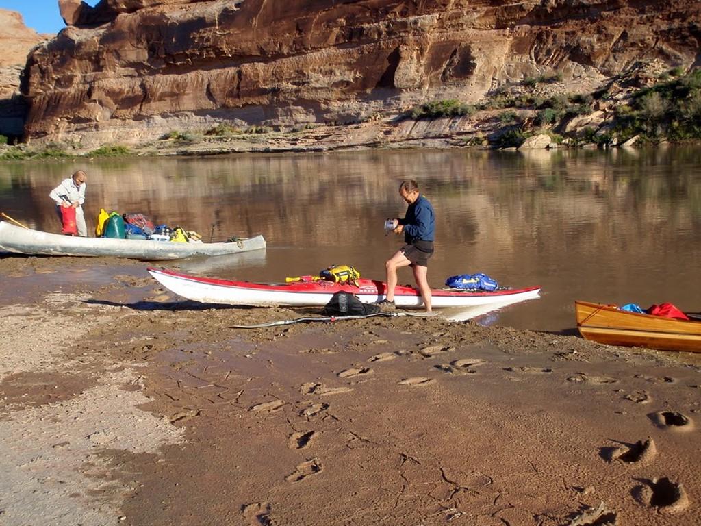 Départ de Rincón Chico pour une balade en kayak sur la rivière Limay