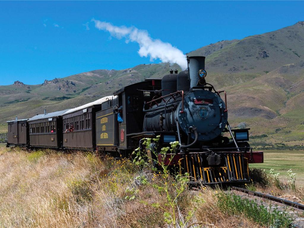 Tren La Trochita de la Patagonia argentina