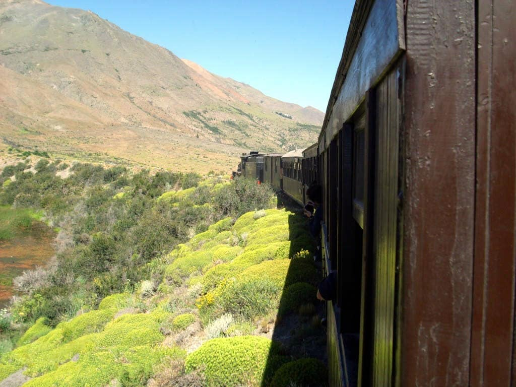 Trayecto Esquel a El Maitén en tren La Trochita