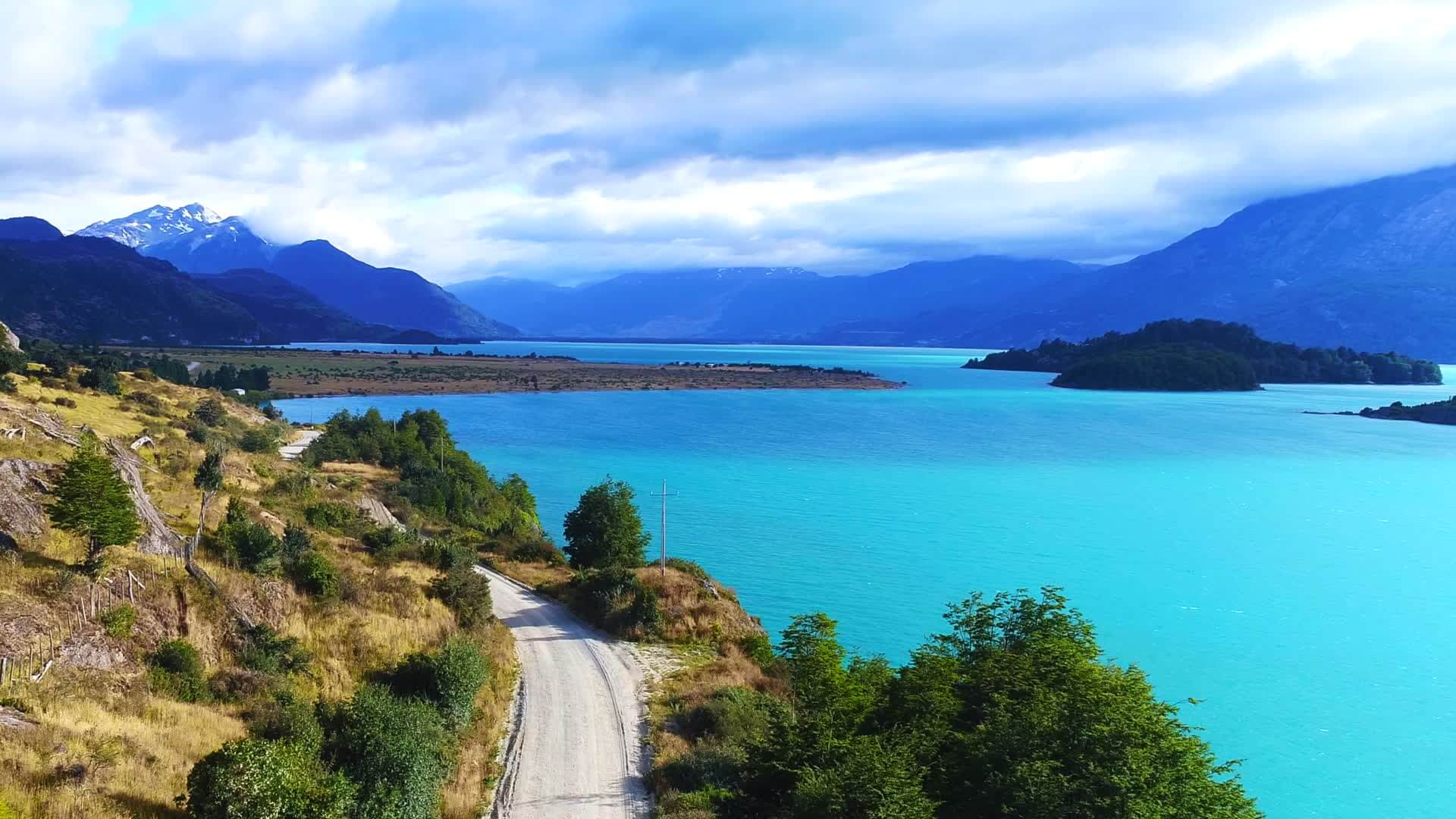 Lac O'Higgins et San Martin entre l'Argentine et le Chili