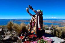 Cérémonie à la Pachamama