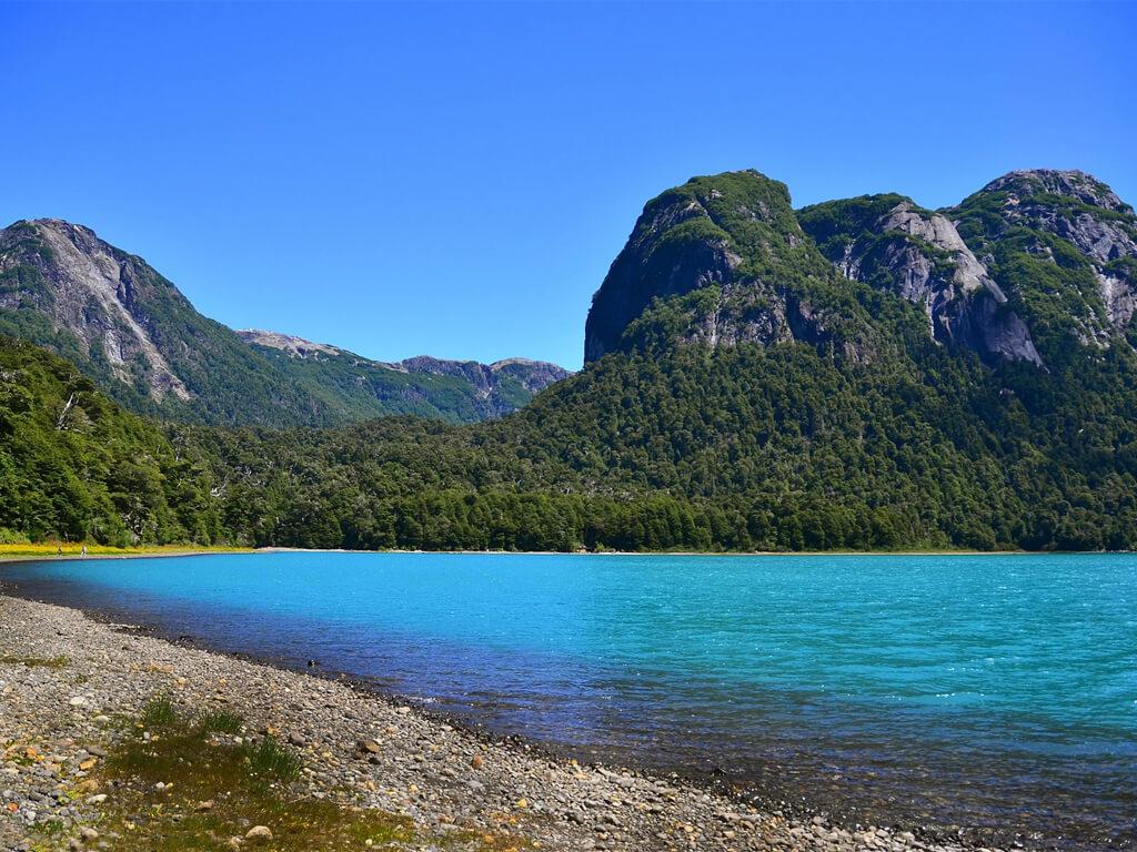 Plage du Bras Blest sur le lac Nahuel Huapi à San Carlos de Bariloche