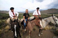 Encuentro con gauchos en la Patagonia