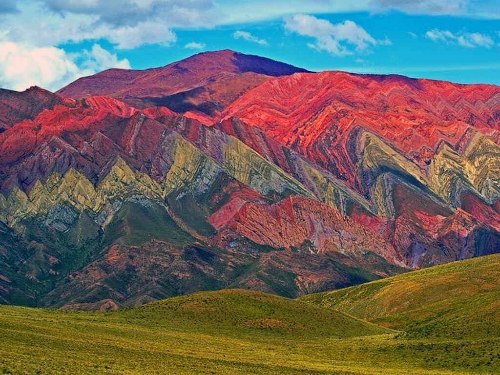 Serranía de Hornocal près de Humahuaca au Nord-Ouest de l'Argentine