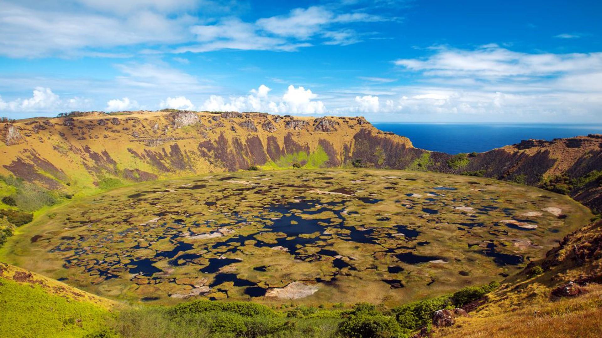 Volcan Maunga Terevaka Rapa Nui