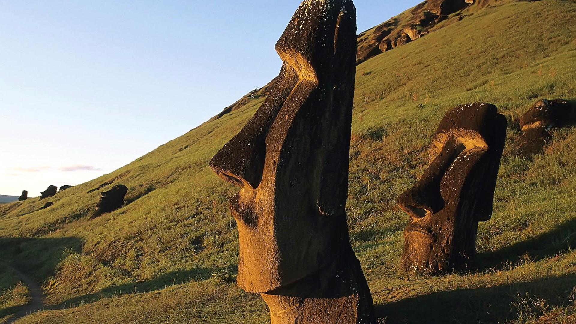 Moai sur l'Ile de Pâques