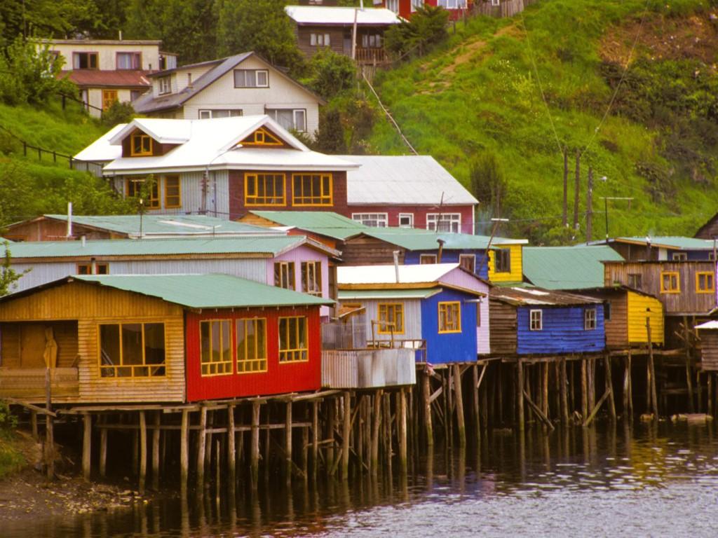Palafitos sur la Grande île de Chiloé
