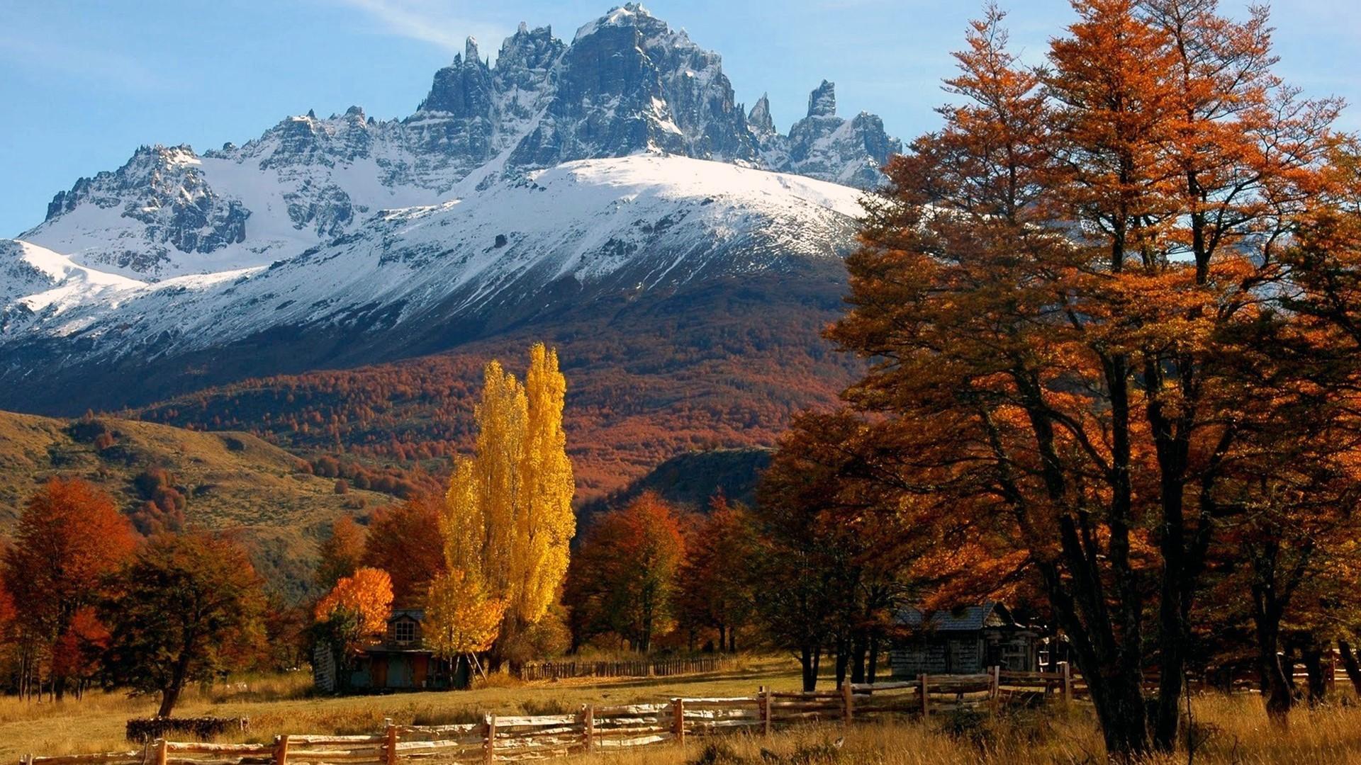 Paysage de Patagonie en automne