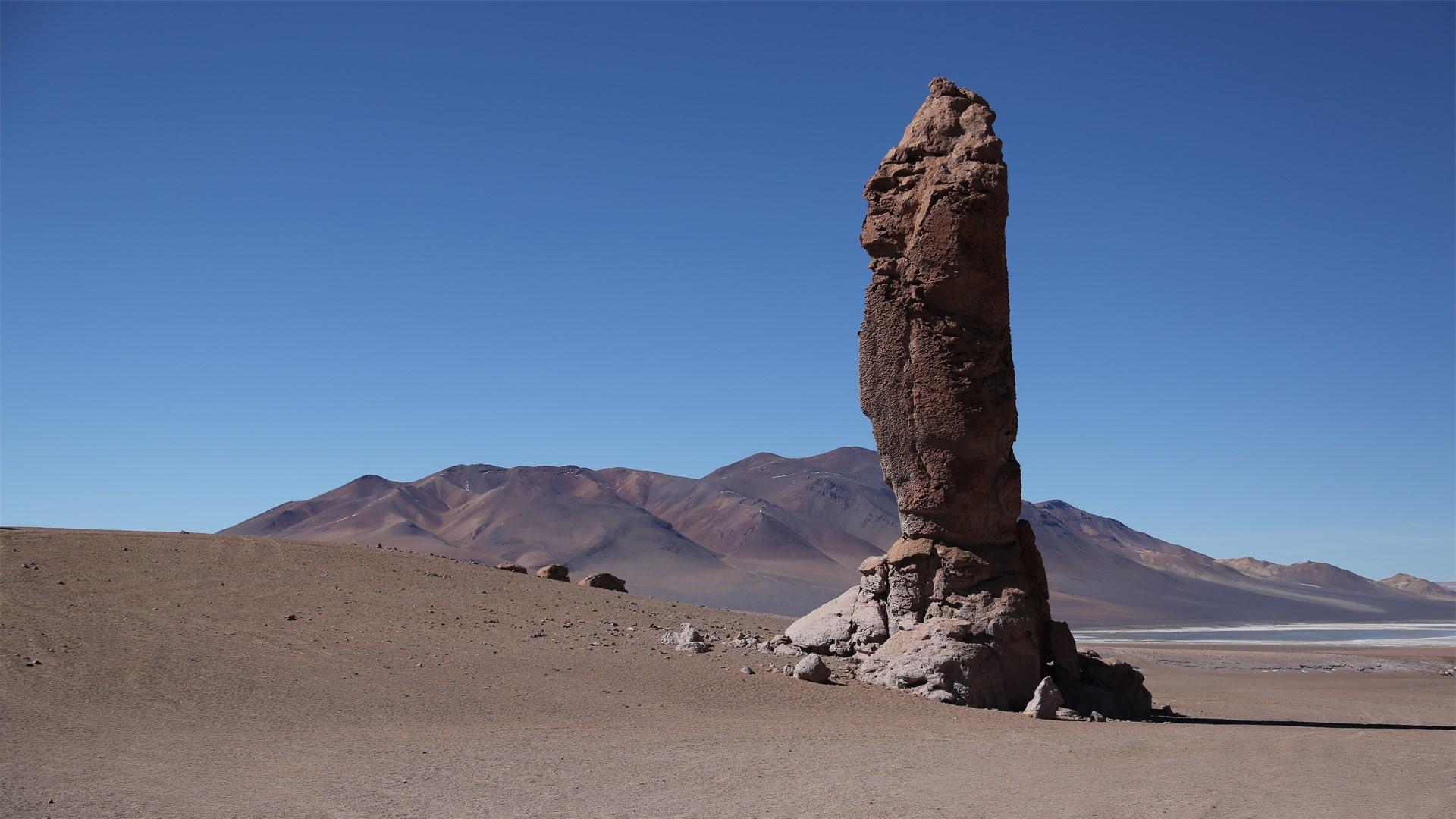 Paisajes desiertos alrededor de San Pedro de Atacama