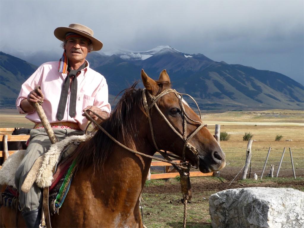 Pedro Aznar sur son cheval