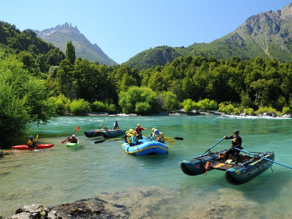 Excursiones de rafting en el río Futaleufú al sur de Chile