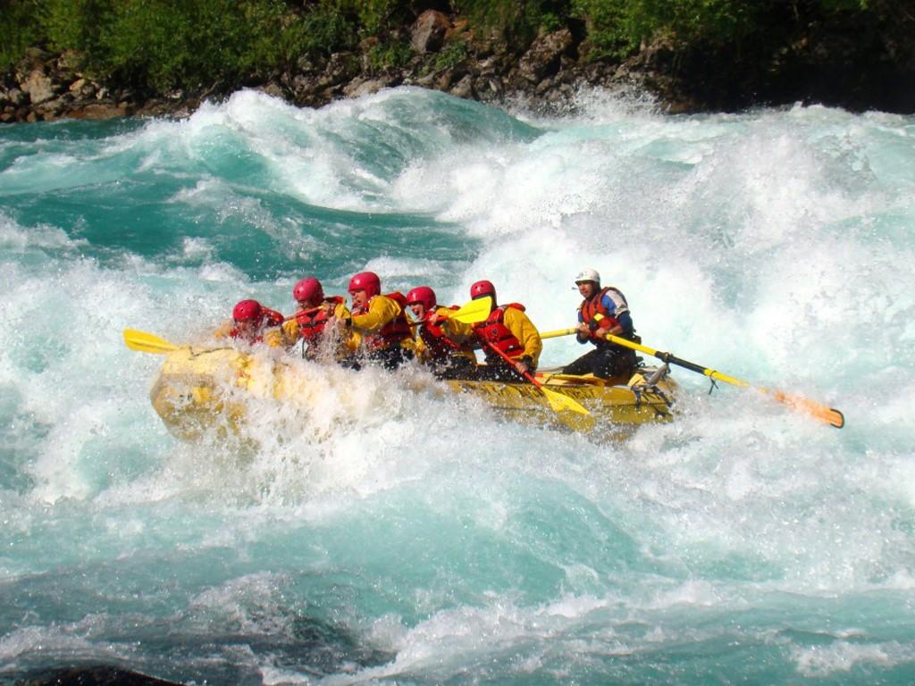 Descente des rapides au Sud du Chili