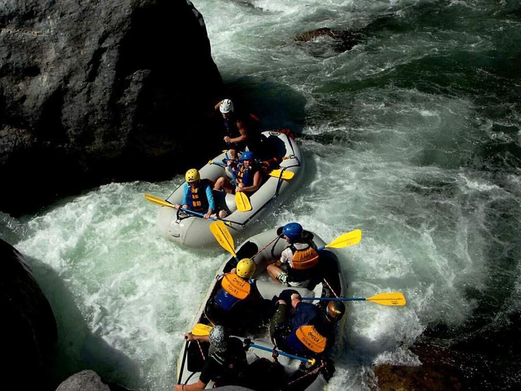 Rafting en el río Juramento en Salta