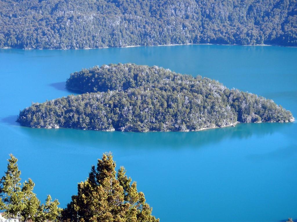 Île Cœur au lac Mascardi à Bariloche