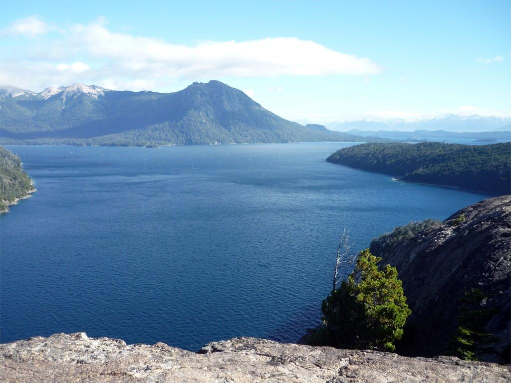 Vue sur les lacs de Bariloche