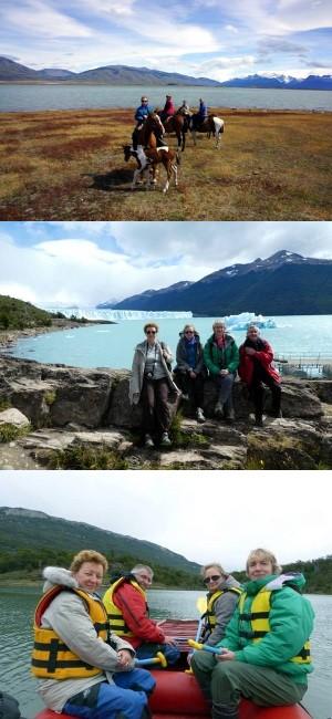 Isabelle, Nadine, Catherine Darricau et Hervé en Argentine et au Chili