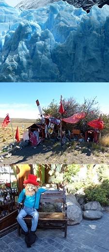 Bénédicte, Brigitte et Michelle Jacob en Patagonie
