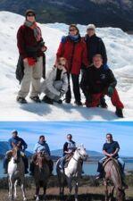 Nathalie et Frédéric D'Alexis, Jean Paul, Florence et Élise Bonneau en Patagonie