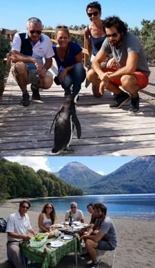 La famille Bobichon : Robert, Dominique, Thomas et Céline en Patagonie