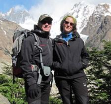 Émilie Rivière et David Stephen en Patagonie