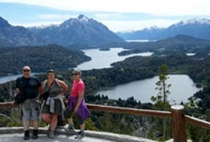 Patrice, Nicole et Carine Steib en Patagonie