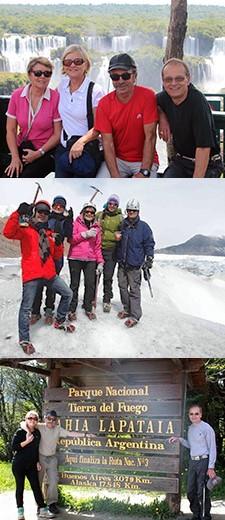 Nadine et Gérard Lafitte, Réjane et Michel Duvignac en Patagonie et à Iguazu