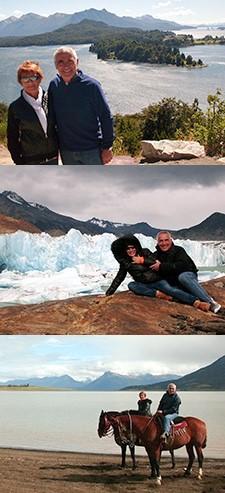 Hélène Dallest et François Bonito à Ushuaia et Iguazu