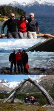 Christine, Jean-Marie et Maxime Bouckaert en Patagonie argentine et chilienne