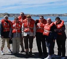 Jacques et Madeleine Vantrepol, Michel et Armelle Gueguen, Marie-Christine Séguin, Muriel Larroque et Marie-Thérèse Malgouyres en Argentine et au Chili