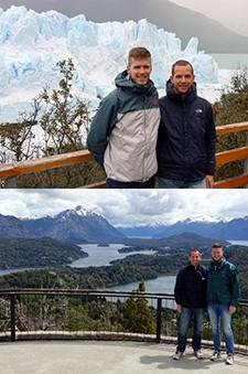 Axel Criquielion et Christian Dassonville en Patagonie